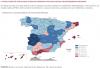 Reducción del PIB por provincias. /Banco de España