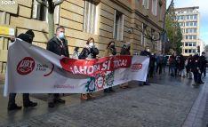 Una imagen de la concentración sindical de hoy. /SN