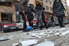 Una imagen de la concentración de los hosteleros frente a la sede de la Junta. /SN