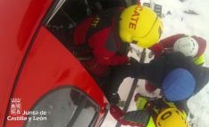 Una imagen de la operación de rescate. /Emergencias CyL