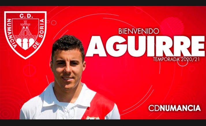 Foto 1 - Aguirre completa la plantilla del Numancia para esta temporada
