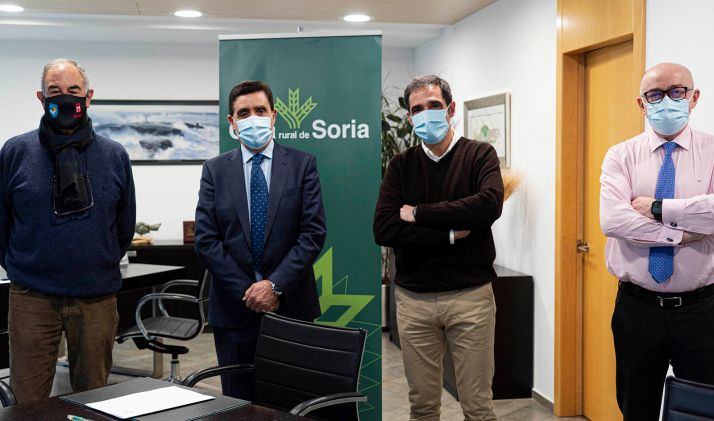 Ángel Calvo (izda.), Carlos Martínez, Vicente Gonzalo y Domingo Barca. /CRS