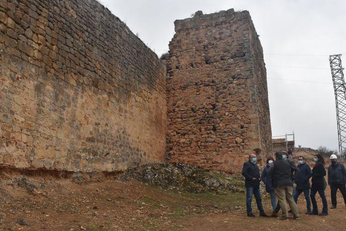 Foto 1 - Soria avanza en la rehabilitación de una nueva fase de la muralla