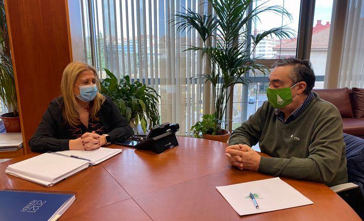 De Gregorio y Gómez esta mañana en la sede de la Delegación de la Junta en la provincia. /ASAJA