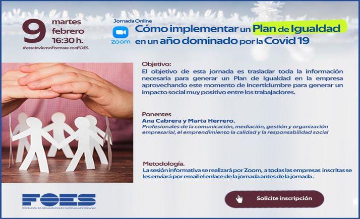 Foto 1 - FOES aborda este martes el modo de implementar planes de igualdad en tiempos de Covid
