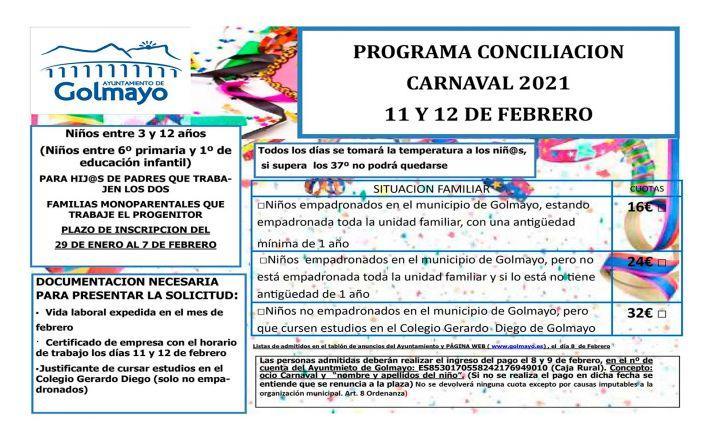 Foto 1 - Las inscripciones para la conciliación de carnaval en Golmayo, hasta el día 7