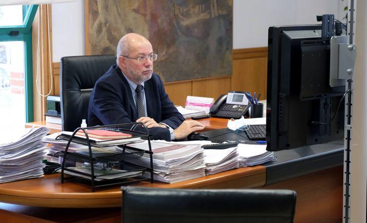 Francisco Igea, en el Pleno del Consejo de Políticas Demográficas. /Jta.