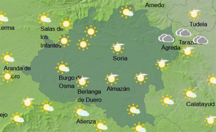 Mapa de cielo a las 13:00 horas. /AEMET