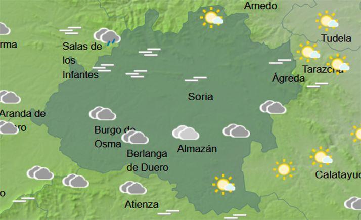 Mapa de cielo a las 14:00 horas. /AEMET