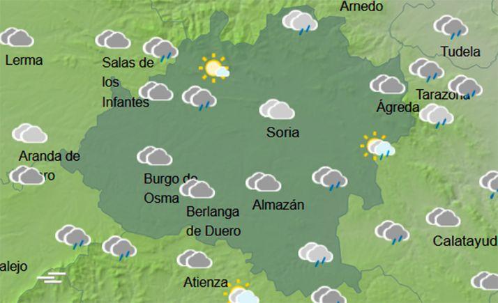 Previsión del cielo a las 13:00 horas. /AEMET