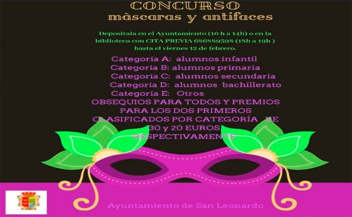 Foto 1 - San Leonardo organiza un concurso de máscaras y antifaces