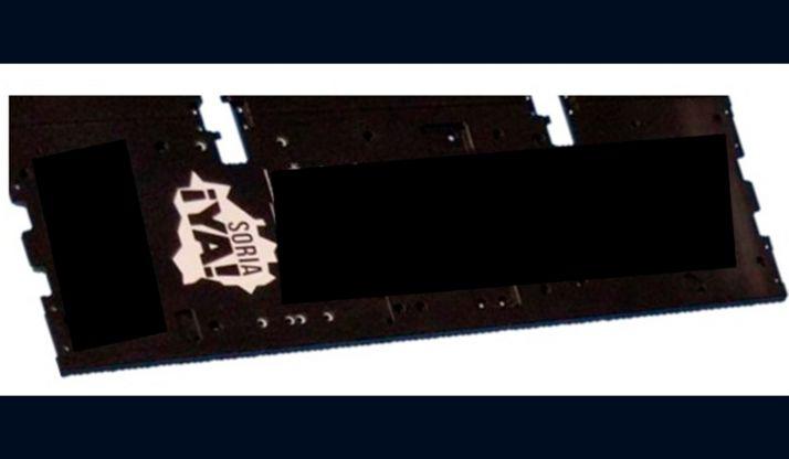 El anagrama de la plataforma en una de las piezas del satélite. /Soria Ya