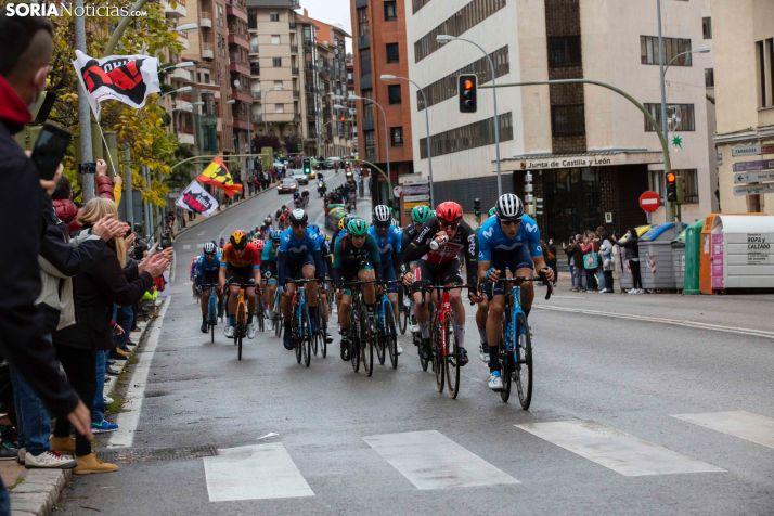 La Vuelta a España a su paso por la capital en 2020.