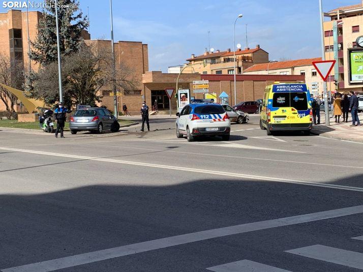 Accidente en la Estación de Autobuses de Soria.
