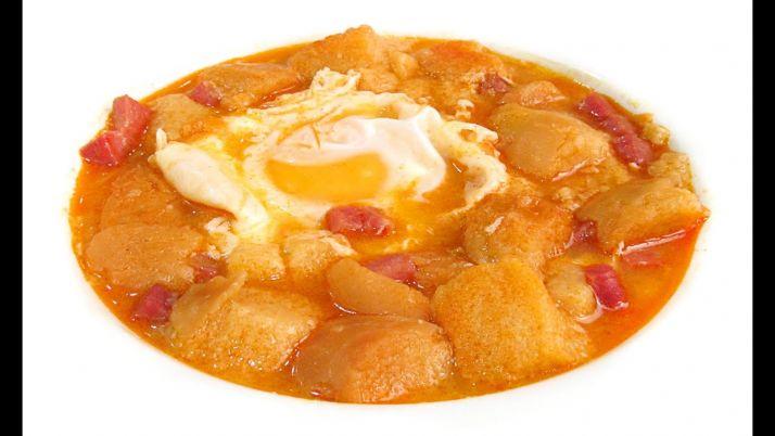 Sopa de ajos./ cocina con Carmen