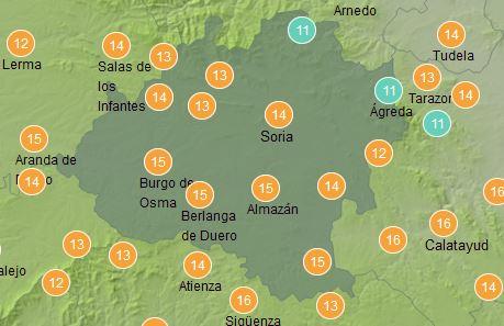 Foto 1 - El tiempo en Soria hoy: Cielos despejados y máximas suaves