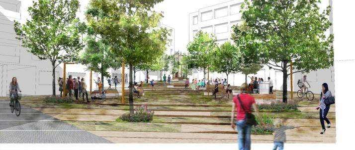 Recreación de la futura plaza de Las Concepciones. /Ayto.