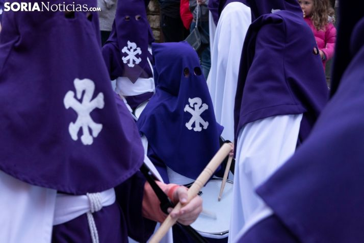 Imagen de archivo de la Procesión del Santo Entierro de Soria.