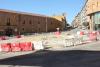 Situación de la construcción de la rotonda en la carretera de Logroño