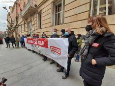 Una imagen de la concentración sindical este jueves. /SN