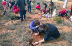 El Burgo celebra del Día del Árbol con homenaje a nacidos y finados el año pasado