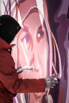 Nuevo mural feminista de Soria. Viksar Fotografía