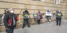 Una docena de personas secundan la concentración de ANVAC en Soria