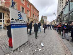 Una imagen de la concentración de ASOHTUR hoy. /SN