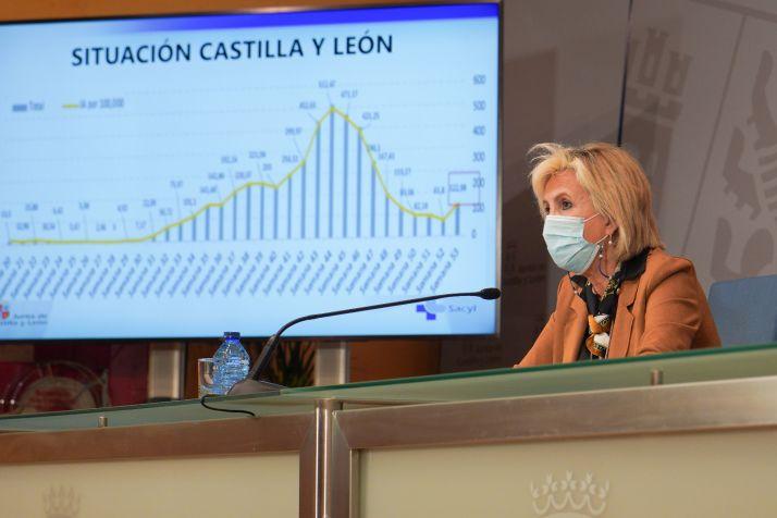 Verónica Casado en una rueda de prensa ofrecida el pasado mes.