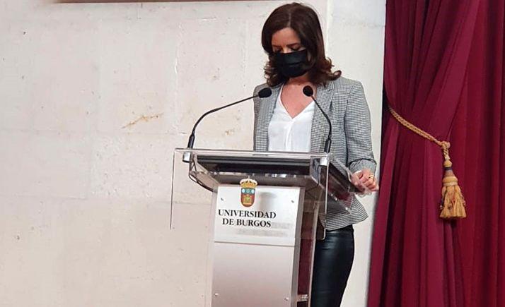 La consejera, hoy en su internvención en Burgos. /Jta.