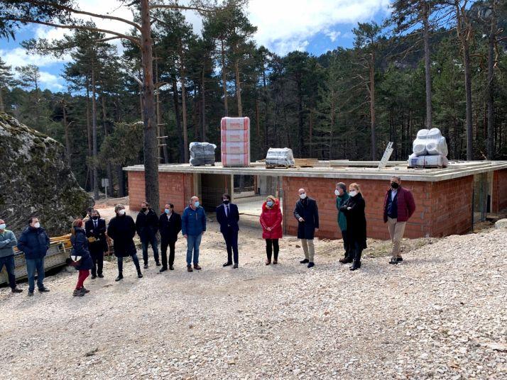 La visita oficial a las obras del nuevo edificio. /Jta.