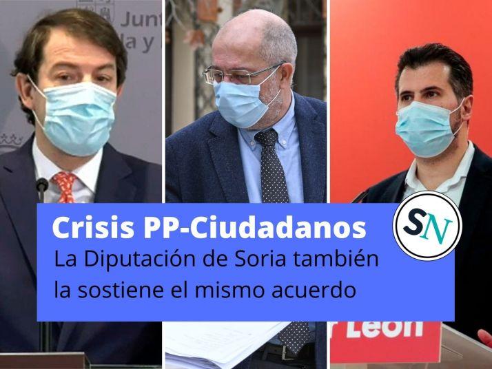 Foto 1 - La Junta y la Diputación de Soria dependen de la fortaleza del pacto PP - Ciudadanos