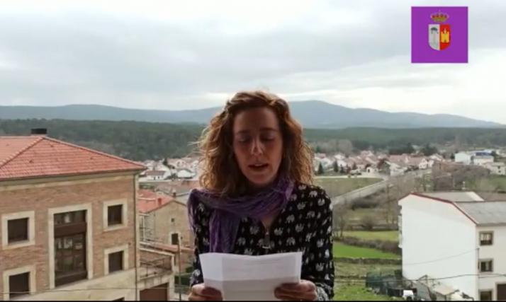 Instante del vídeo en el que se puede ver a Yolanda Herrero.
