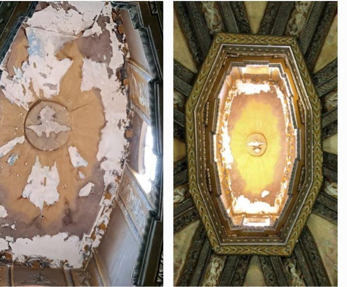 Foto 1 - Indignación en redes por el estado de los frescos de San Saturio