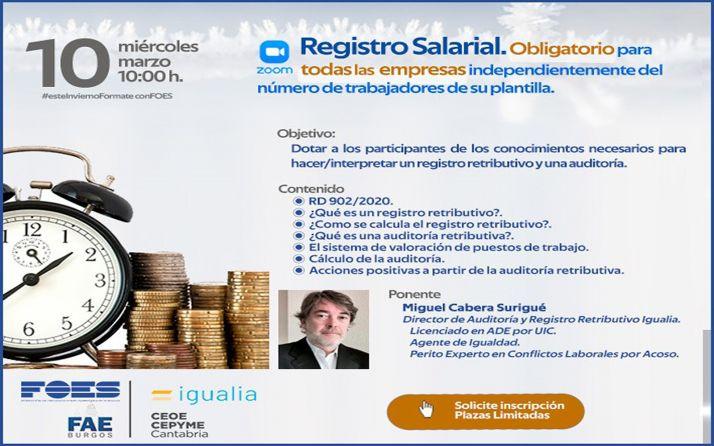 Foto 1 - FOES advierte de la obligatoriedad del registro salarial en una nueva jornada de formación