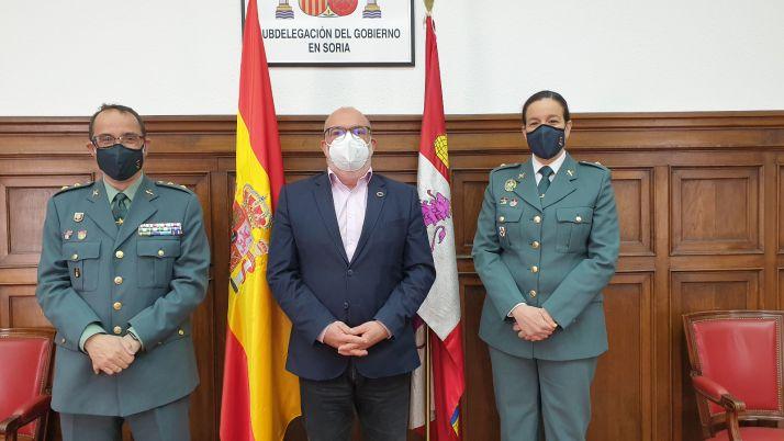Foto 1 - La responsable del Subsector de Tráfico de la Guardia Civil de Soria, María Teresa Miras, asciende a comandante