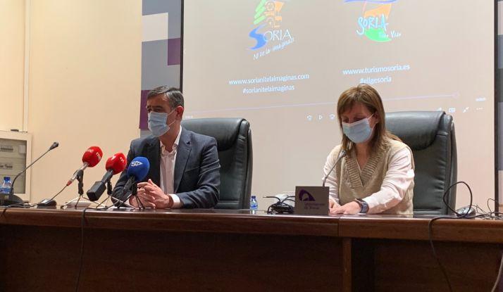 Diputación y Ayuntamiento firman un convenio para promocionar Soria