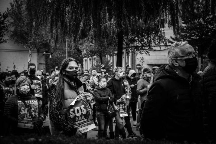 Protesta de hosteleros sorianos. /Viksar Fotografía