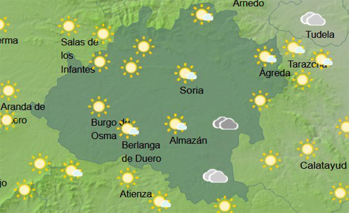 El cielo en la provincia a las 11:00 horas. /AEMET