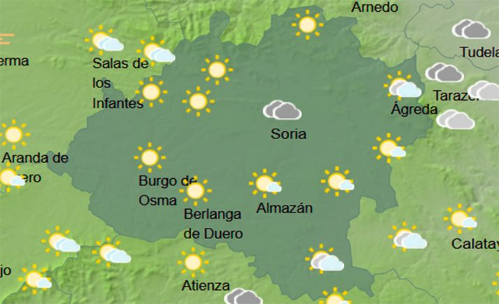 Los cielos en la provincia a las doce del mediodía. /AMET