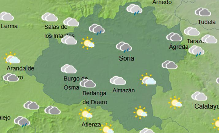 Previsión del cielo a las 12:00 horas. /AEMET