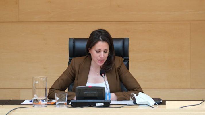 María Montero, en una comparecencia.