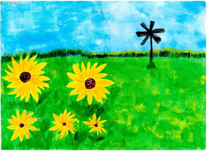 Foto 1 - Una agredeña se lleva el 24ª Certamen de Pintura Rural Infantil del Grupo Fertiberia