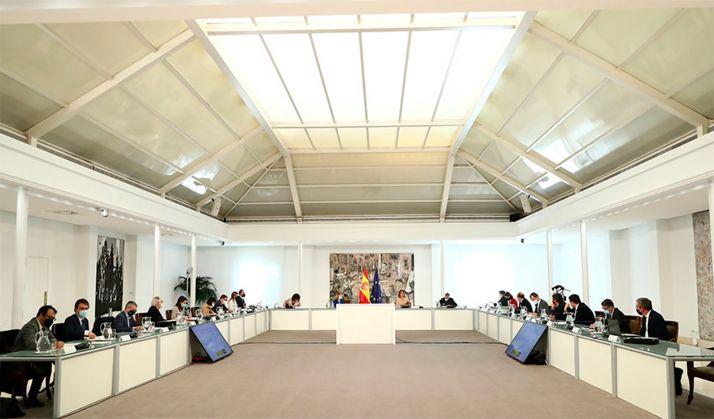 Una imagen de la Comisión Delegada del Reto Demográfico este miércoles. /