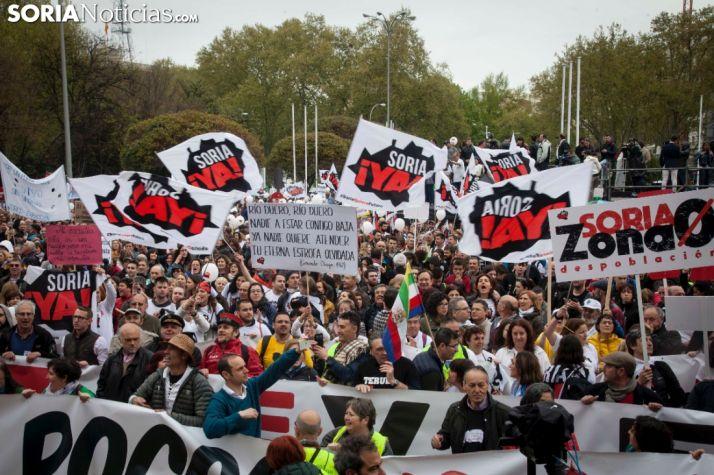 Foto 1 - La revuelta de la España Vaciada celebra dos años a las puertas del Congreso de los Diputados