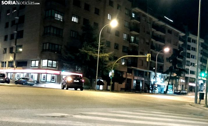 Una imagen de la calle Tejera esta noche. /SN