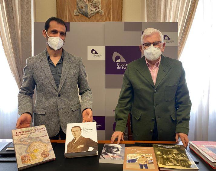 Enrique Rubio y Juan Manuel Ruiz Liso en la Diputación Provincial.
