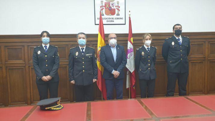 Recibimiento de los tres nuevos inspectores.