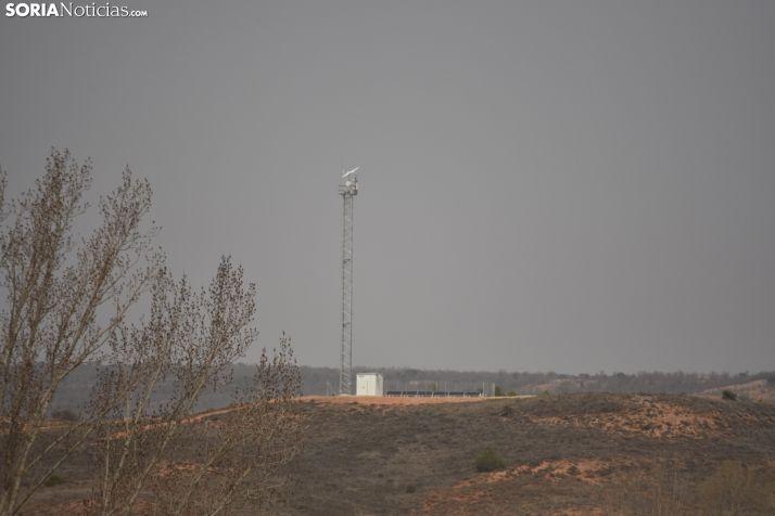 Antena instalada en Matanza de Soria.