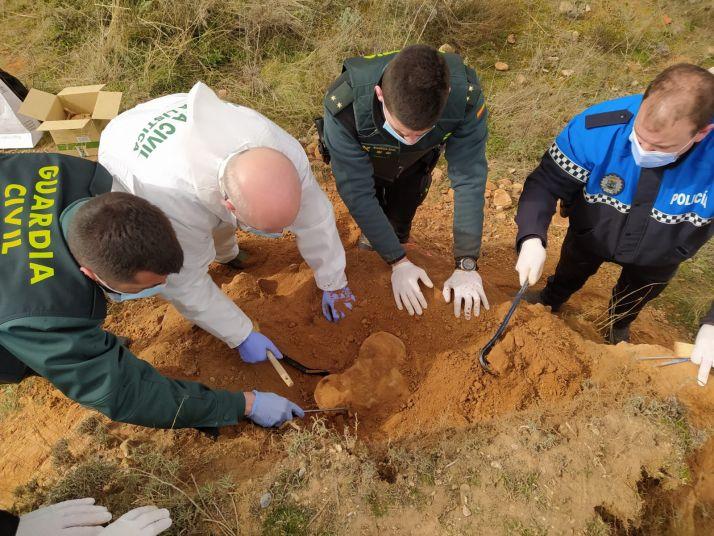 Foto 1 - Los restos humanos hallados en Ágreda están compuestos por 136 piezas
